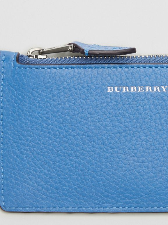Two-tone Leather Card Case in Hydrangea Blue - Women | Burberry - cell image 1