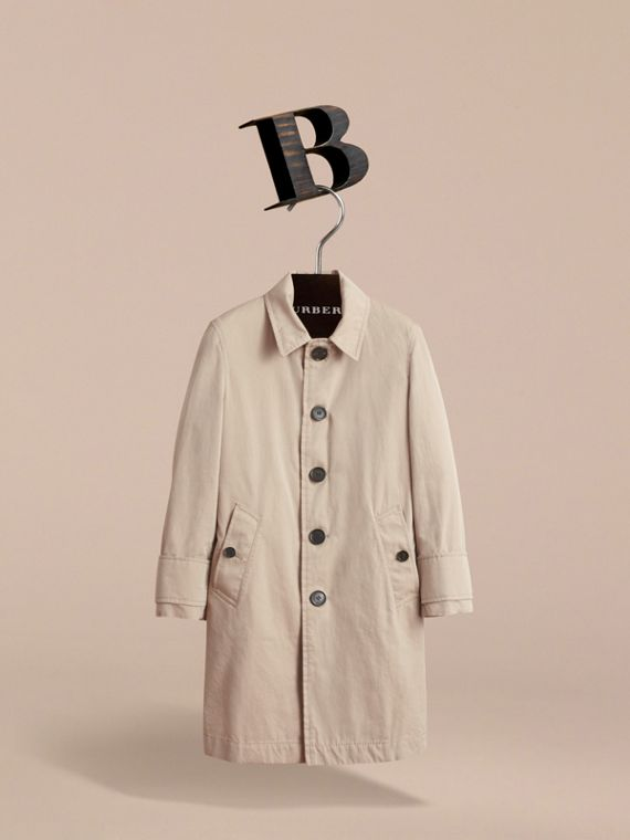 Tropical Gabardine Car Coat in Light Taupe | Burberry - cell image 2
