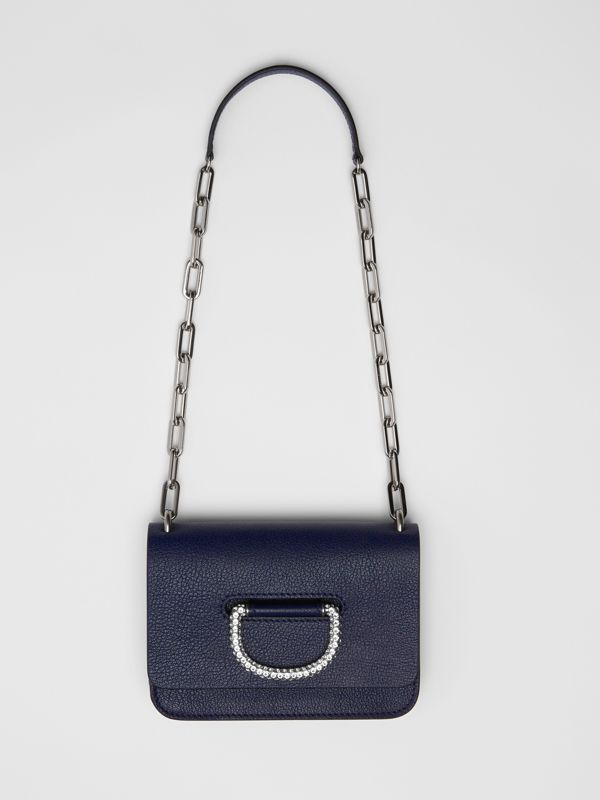 The Mini Leather Crystal D-ring Bag in Regency Blue - Women | Burberry - cell image 2