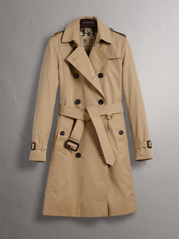 The Kensington – Long Trench Coat in Honey - Women | Burberry - cell image 3