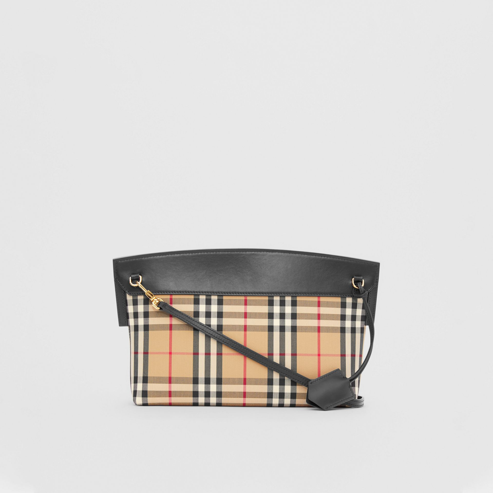 Vintage Check and Leather Society Clutch in Archive Beige - Women | Burberry - gallery image 7