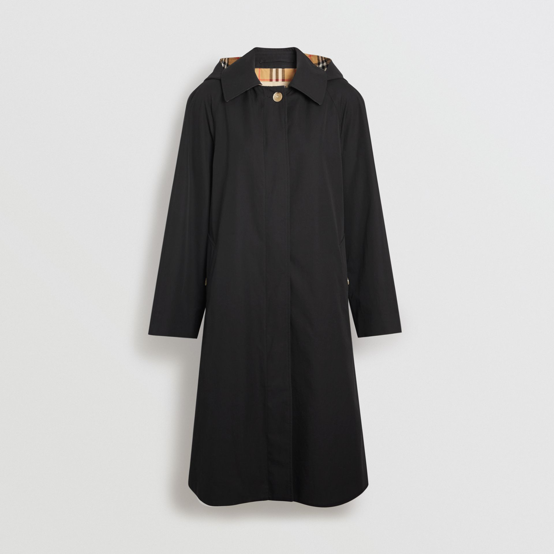 Detachable Hood Oversized Car Coat in Black - Women | Burberry - gallery image 3