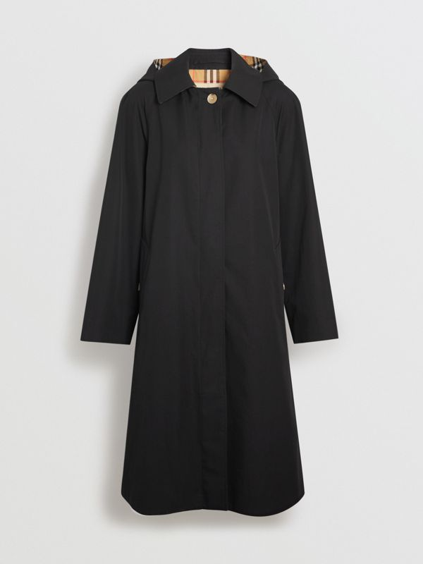 Detachable Hood Oversized Car Coat in Black - Women | Burberry - cell image 3