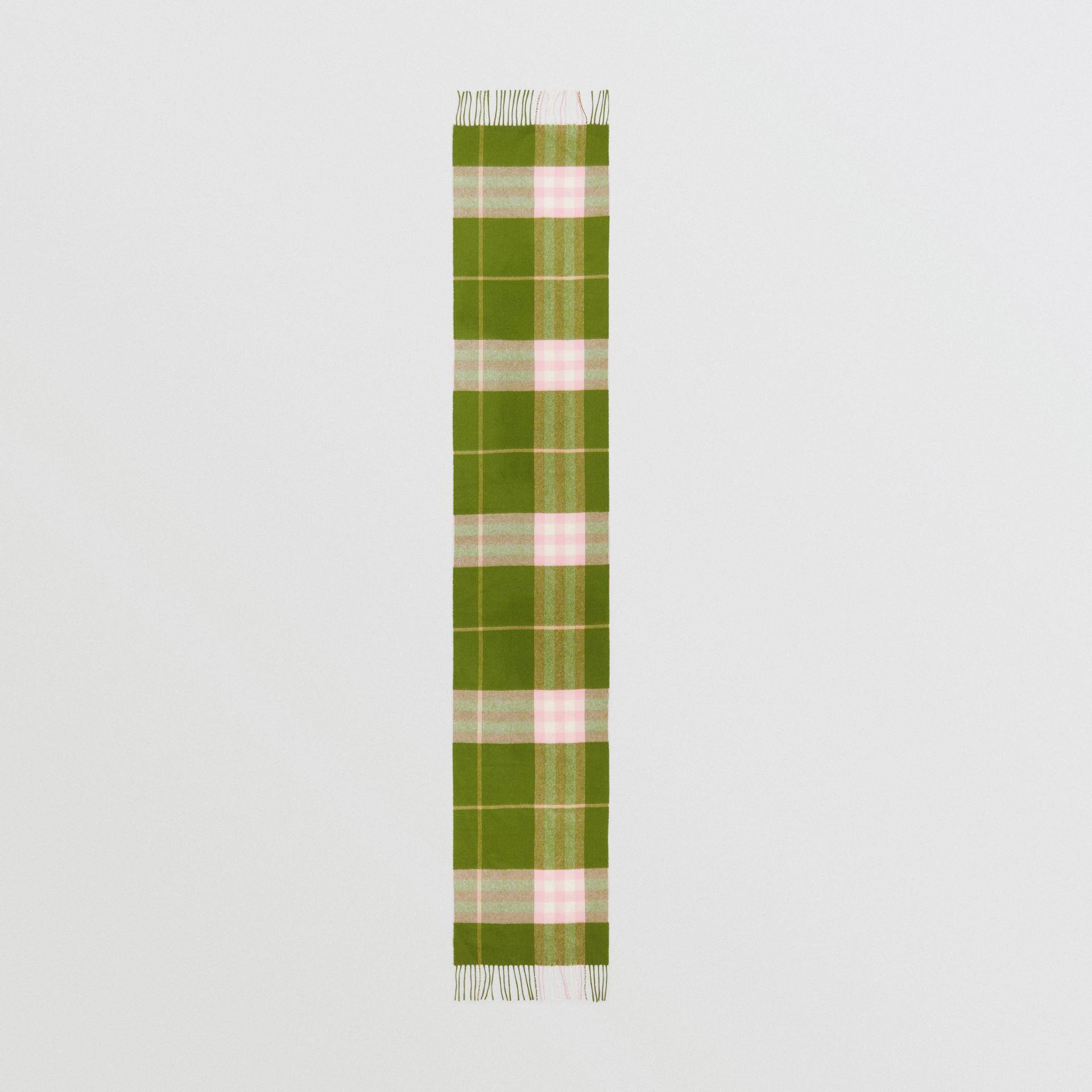 The Classic Check Cashmere Scarf in Cedar Green | Burberry United States - gallery image 5
