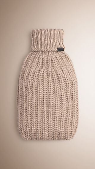 Knitted Cashmere Hot Water Bottle Cover