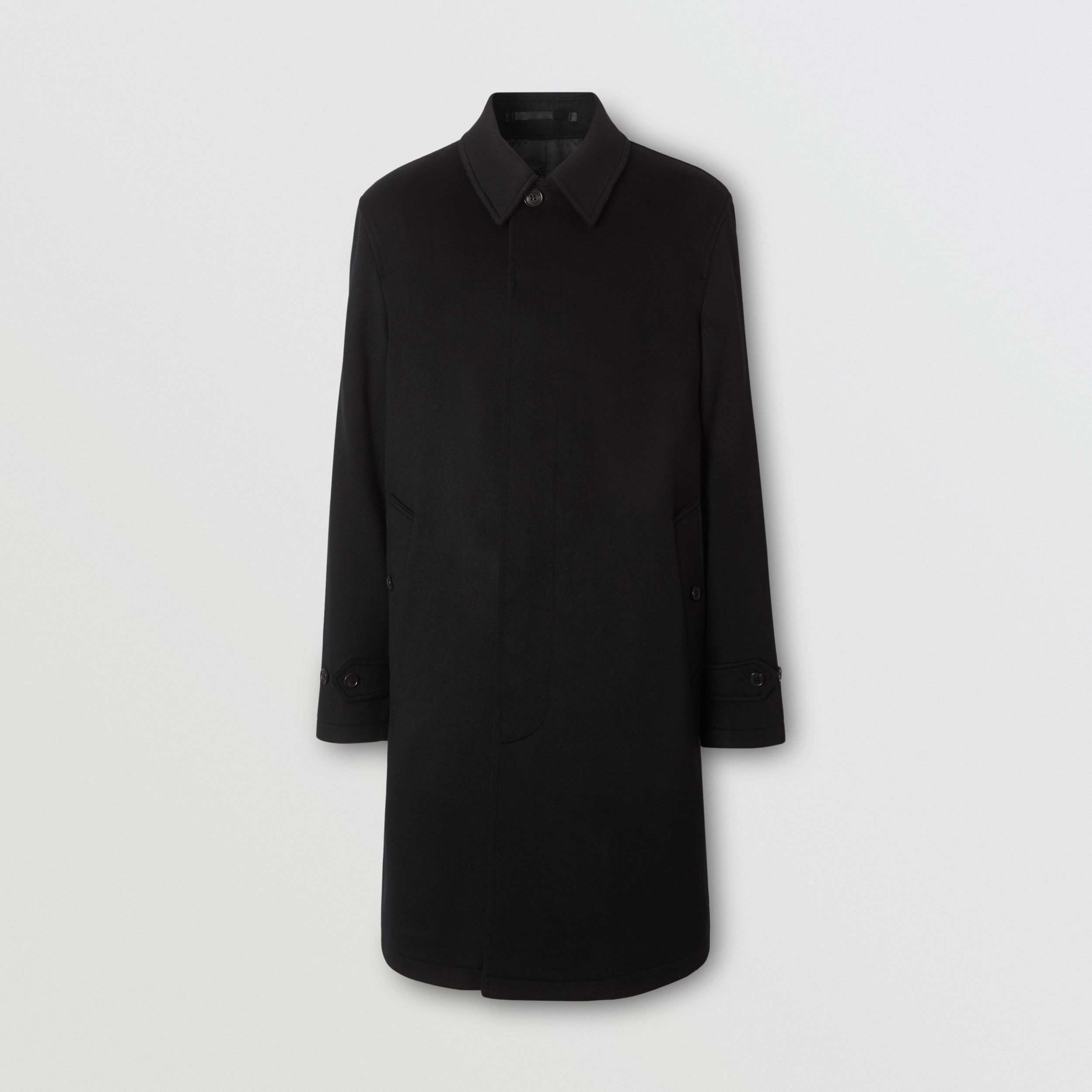 Cashmere Car Coat in Black - Men | Burberry - 4