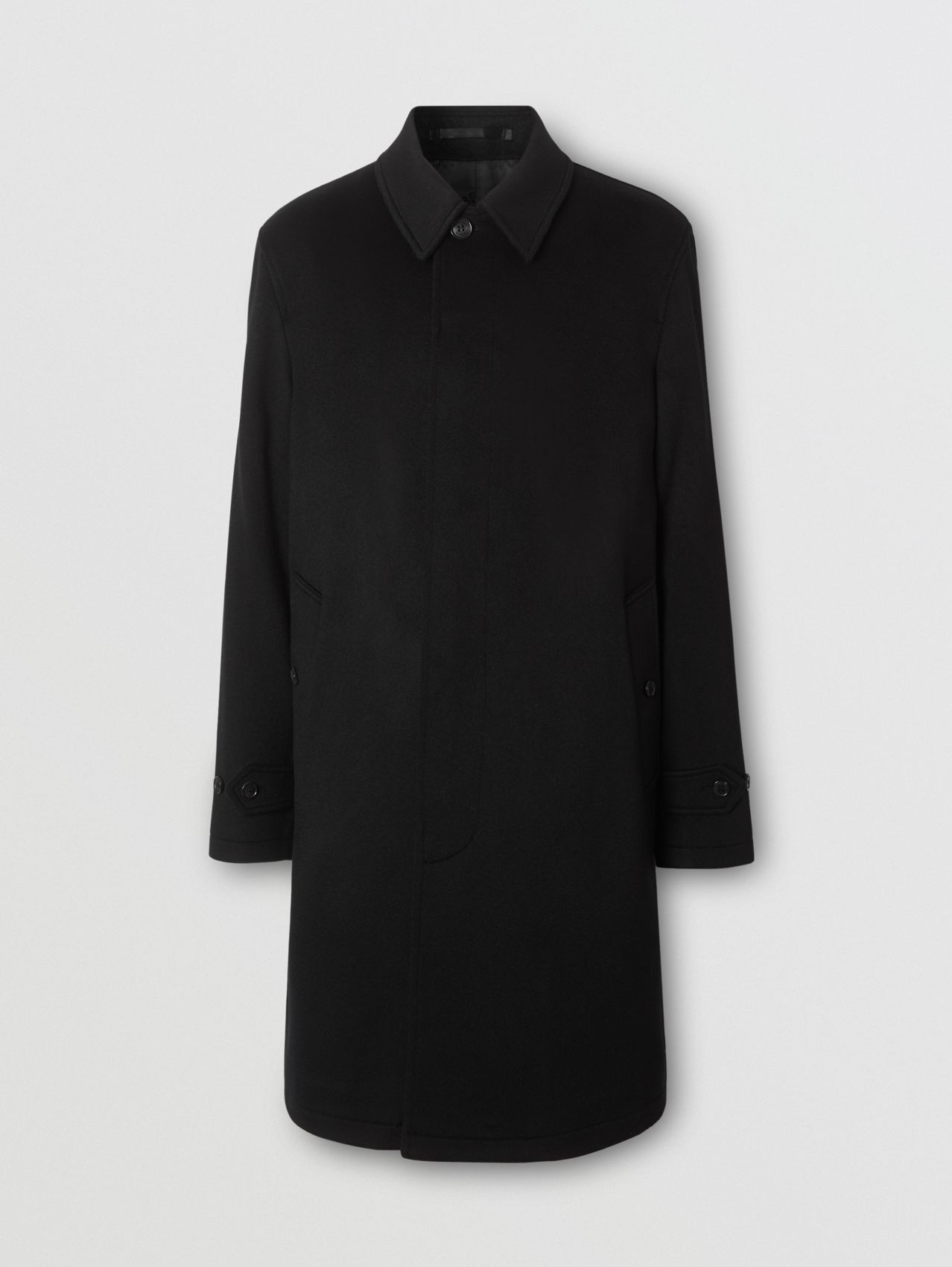 Cashmere Car Coat in Black