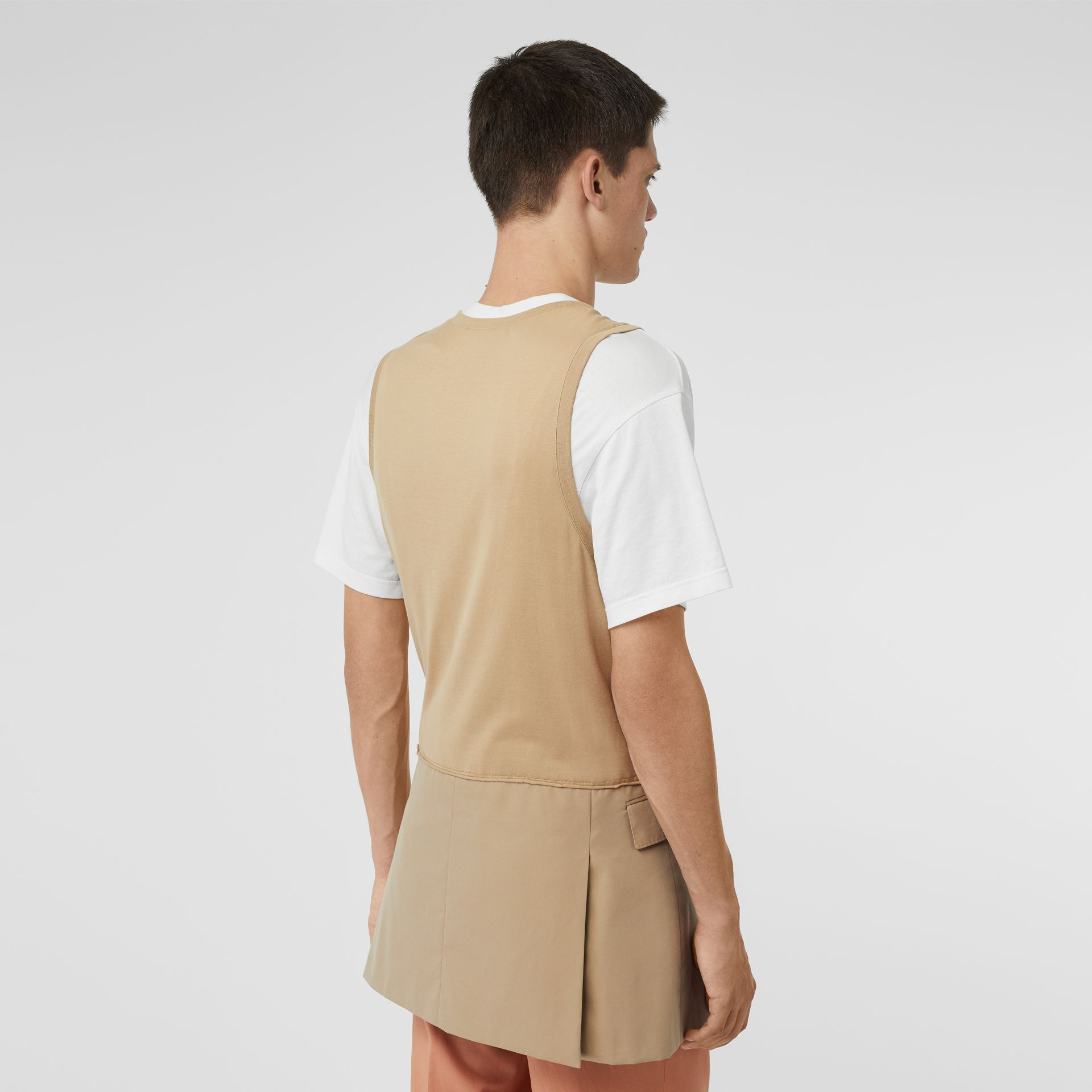 Suit Panel Cotton Vest in Honey | Burberry - gallery image 2