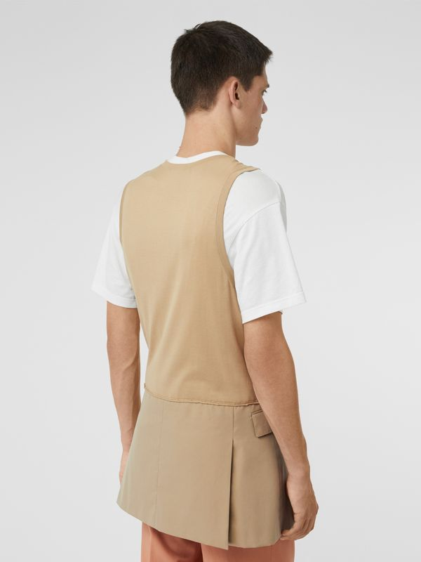 Suit Panel Cotton Vest in Honey | Burberry Singapore - cell image 2