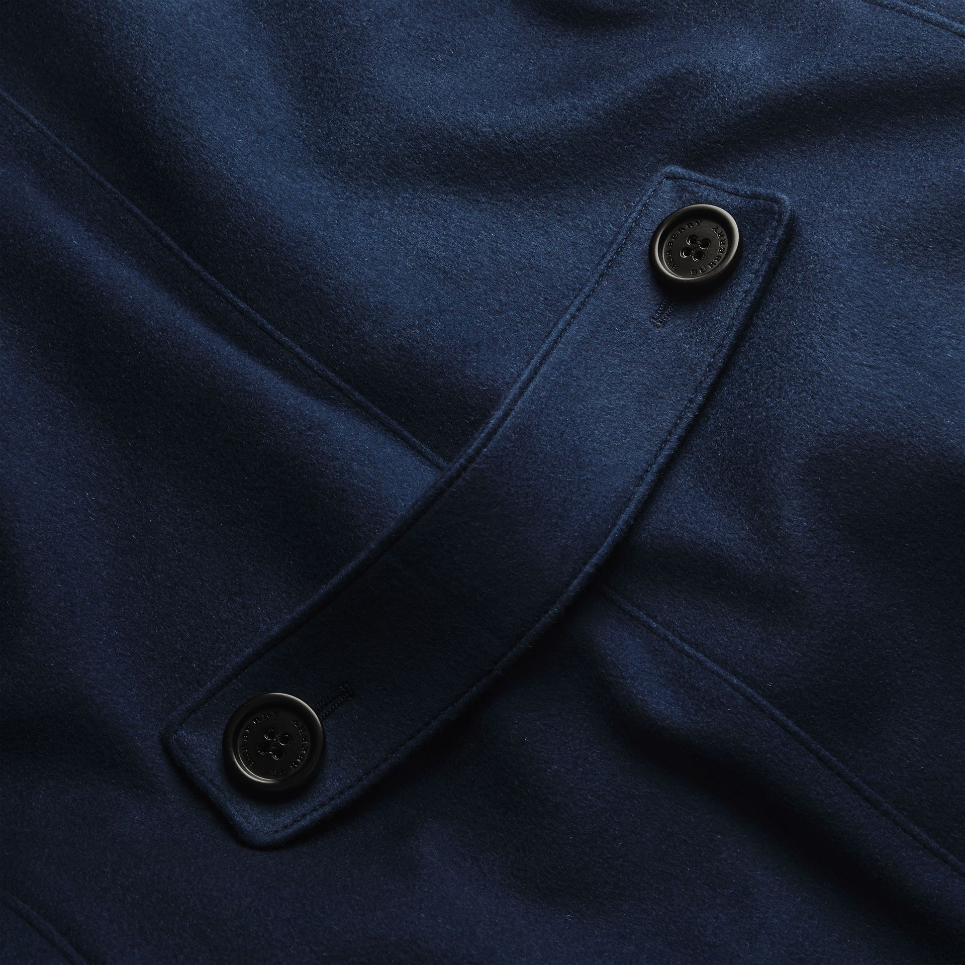 Bright navy Cashmere Tailored Coat Bright Navy - gallery image 2