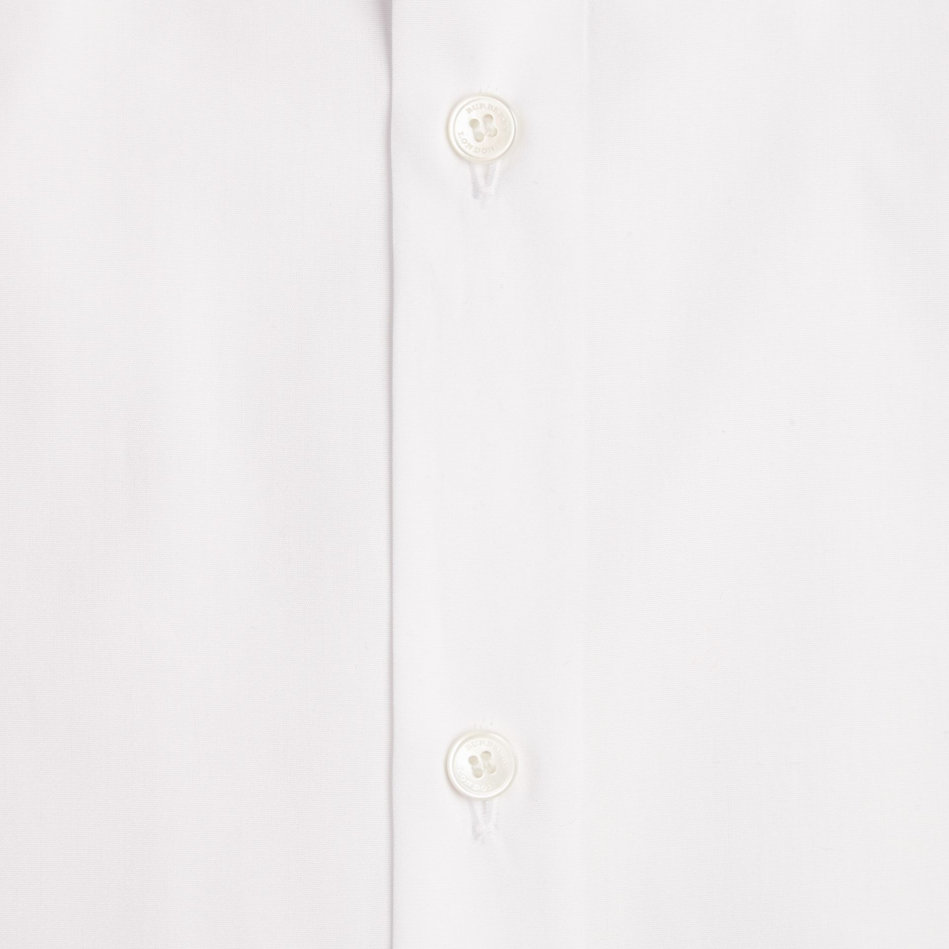 White Modern Fit Short-sleeved Cotton Poplin Shirt - gallery image 2