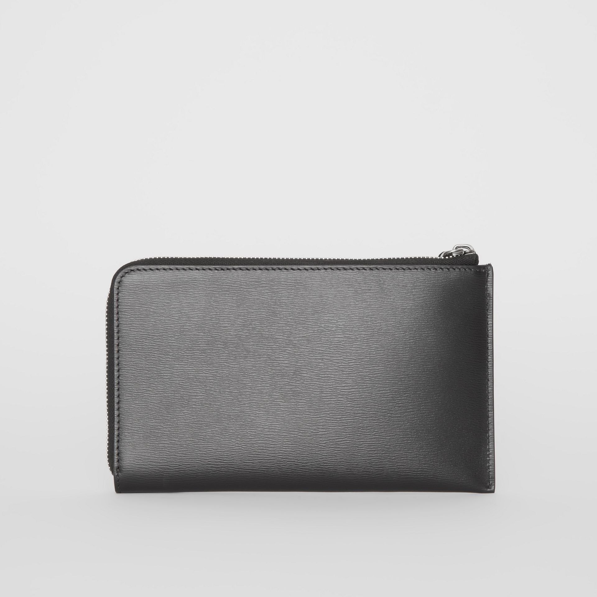 London Leather Travel Wallet in Black - Men | Burberry - gallery image 8