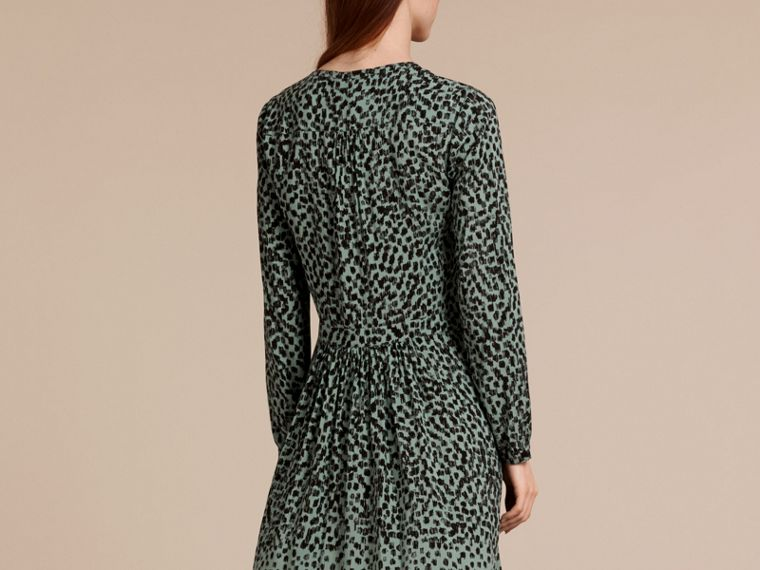 Mint green Dash Print Shirt Dress Mint Green - cell image 2