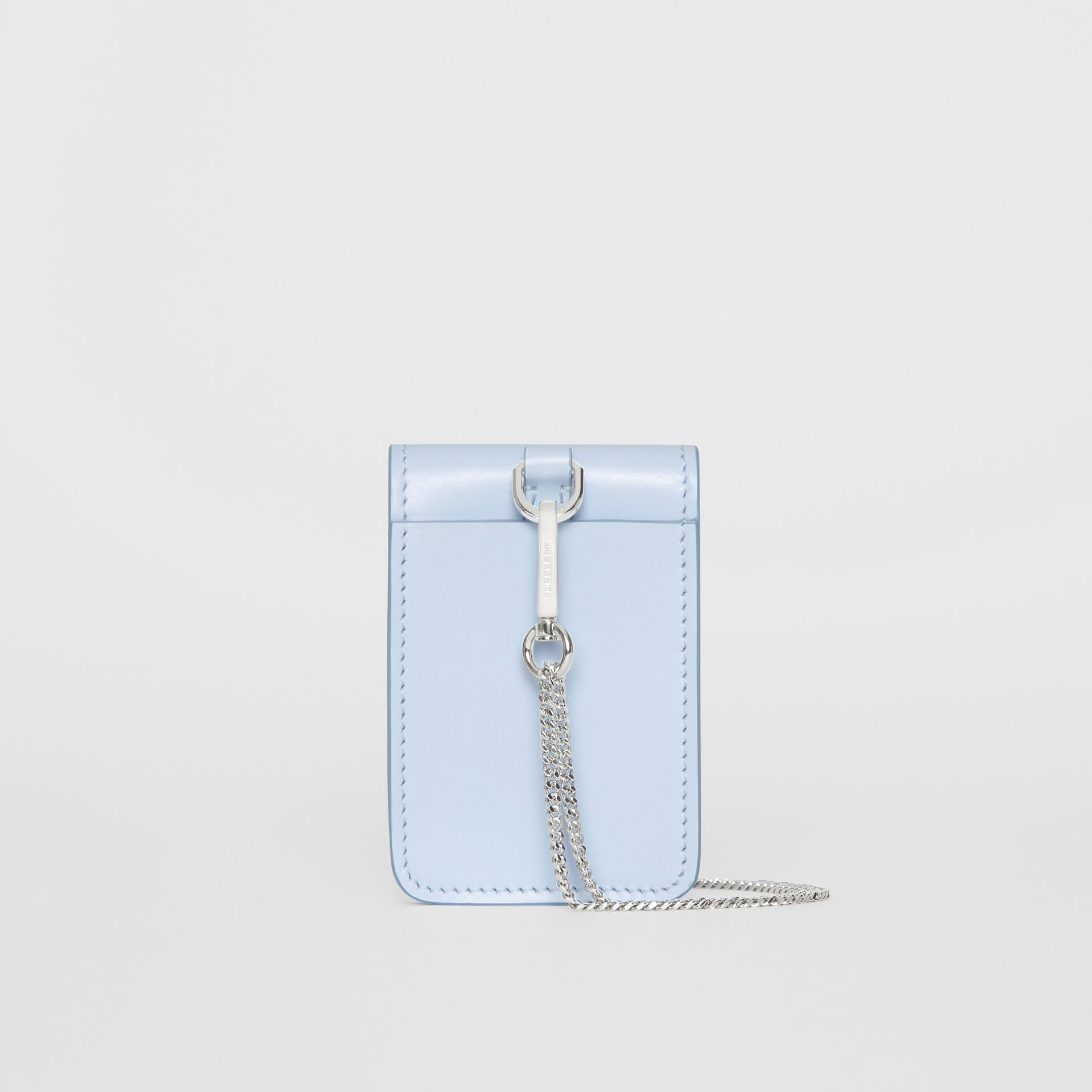 Horseferry Print Leather Card Case Lanyard in Pale Blue | Burberry - gallery image 5