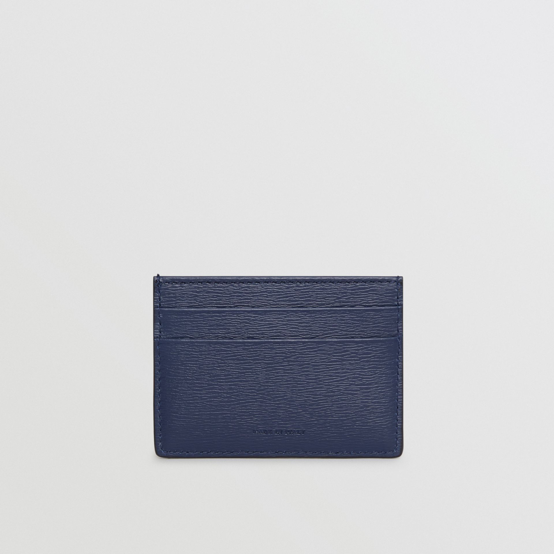 London Leather Card Case in Navy - Men | Burberry - gallery image 4
