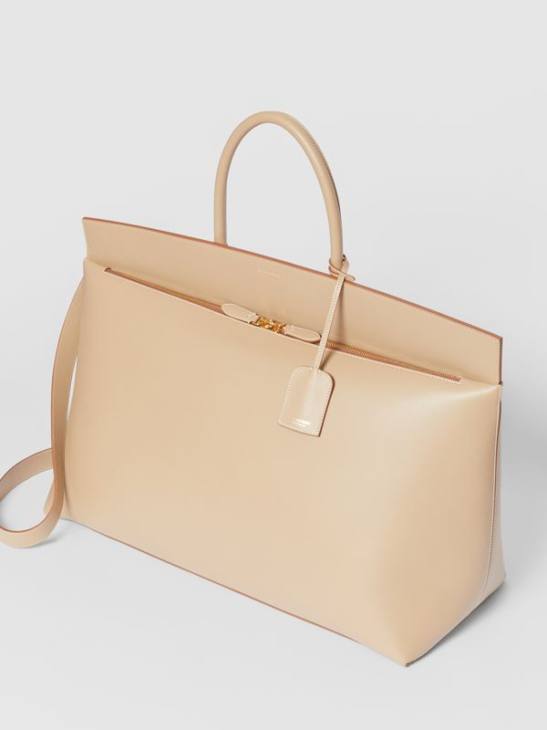 Extra Large Leather Society Top Handle Bag in Honey - Men | Burberry - cell image 2