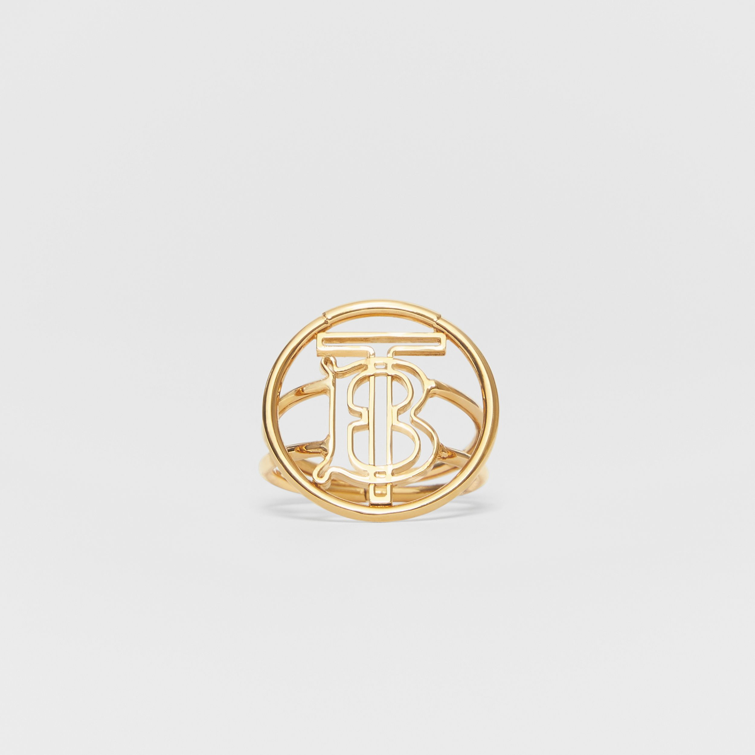 Large Gold-plated Monogram Motif Ring in Light - Women | Burberry United States - 1