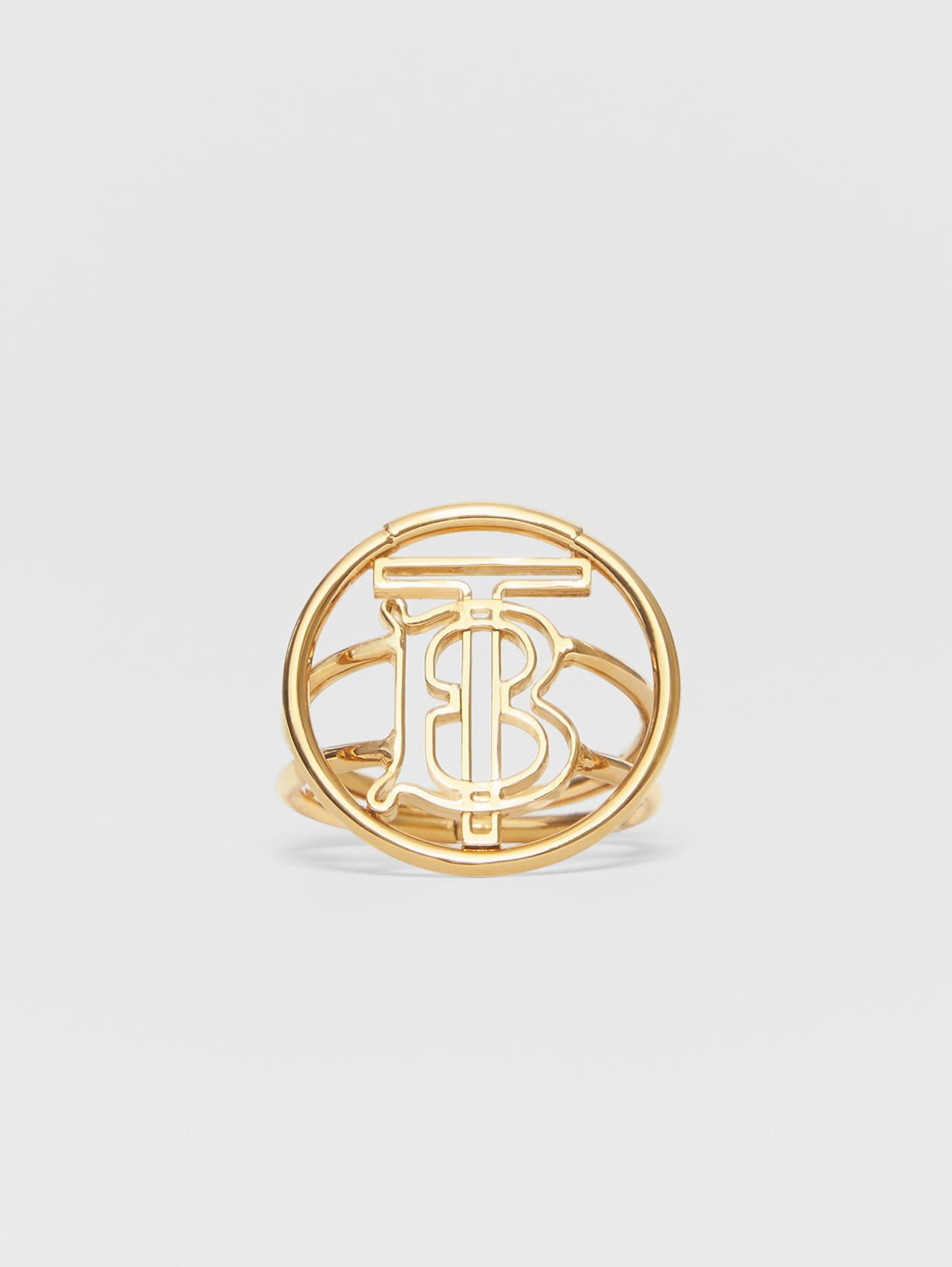 Large Gold-plated Monogram Motif Ring in Light