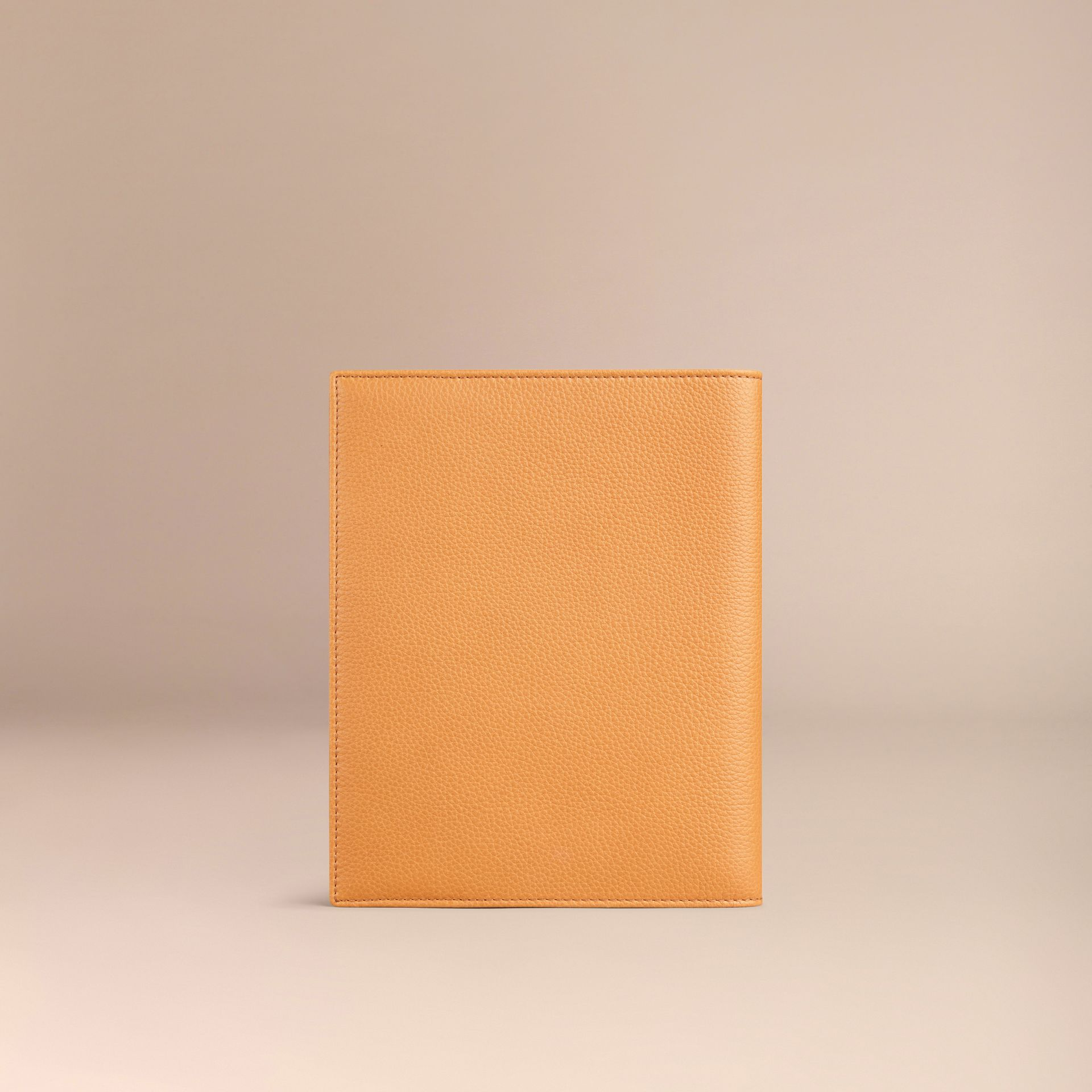 Grainy Leather 18 Month 2016/17 A5 Diary in Ochre Yellow | Burberry - gallery image 3
