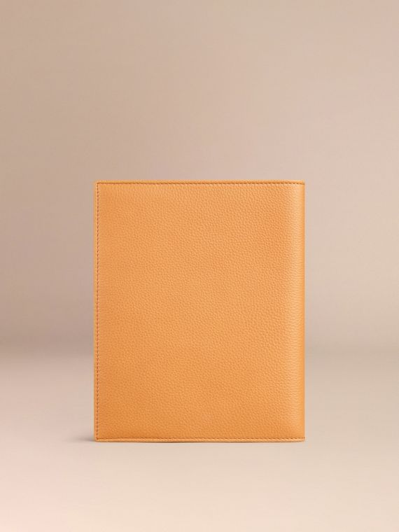 Grainy Leather 18 Month 2016/17 A5 Diary in Ochre Yellow | Burberry - cell image 2