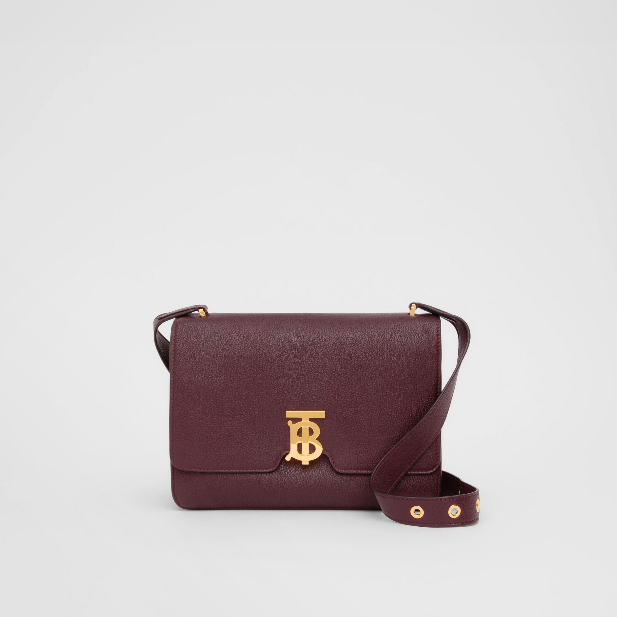 Medium Grainy Leather Alice Bag in Deep Claret - Women | Burberry - 1