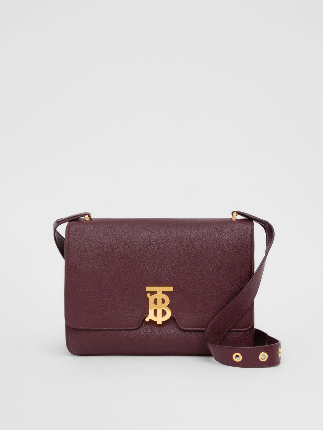 Medium Grainy Leather Alice Bag in Deep Claret