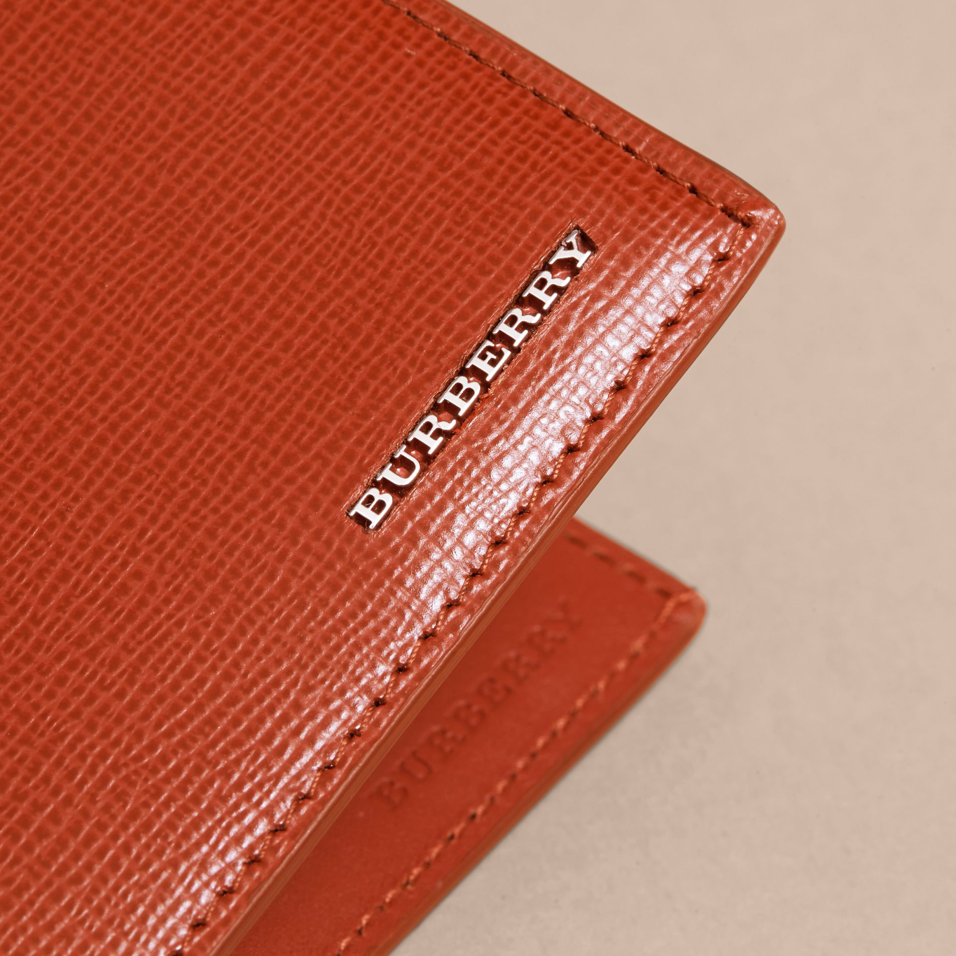London Leather ID Wallet Burnt Sienna - gallery image 2
