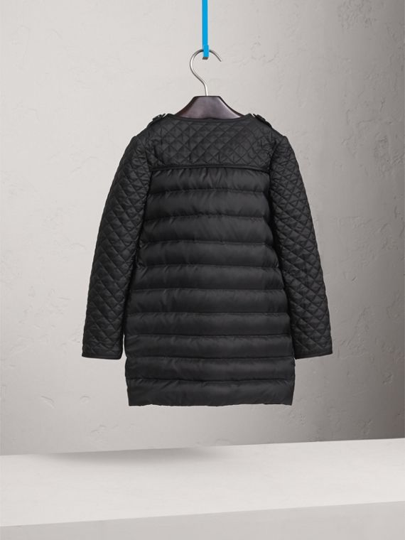 Quilted Down-filled Coat in Black - Girl | Burberry Australia - cell image 3