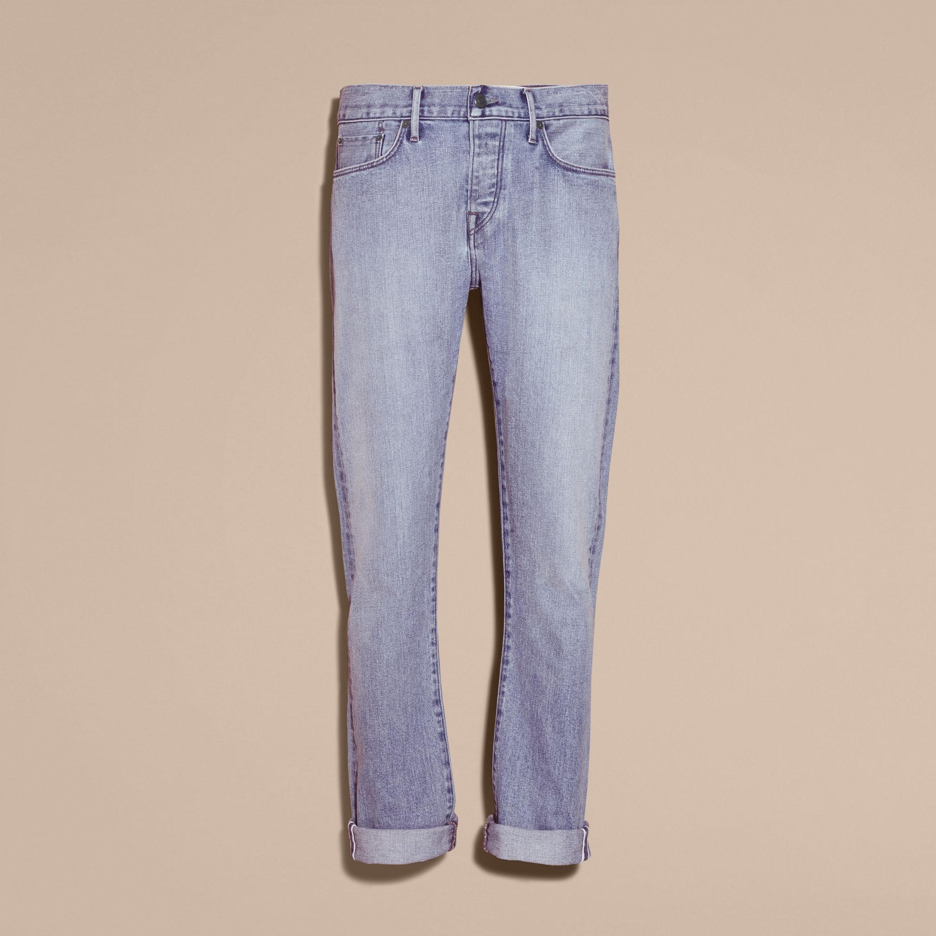 Straight Fit Japanese Light-wash Denim Jeans - gallery image 4