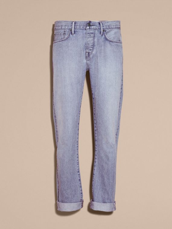 Straight Fit Japanese Light-wash Denim Jeans - cell image 3