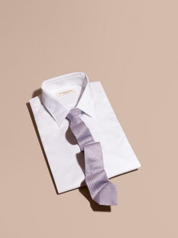 Узкий галстук в клетку Светлый Медно-розовый
