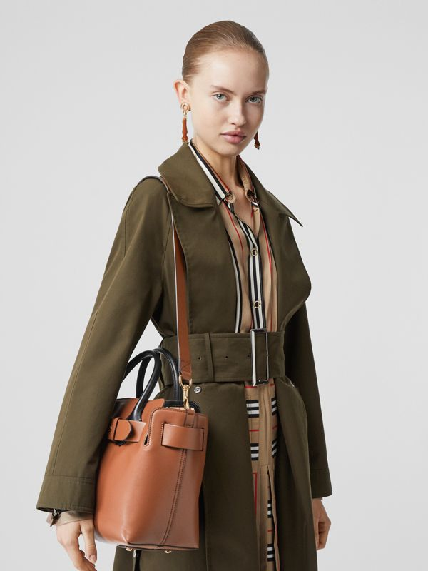The Small Leather Triple Stud Belt Bag in Malt Brown - Women | Burberry Canada - cell image 2