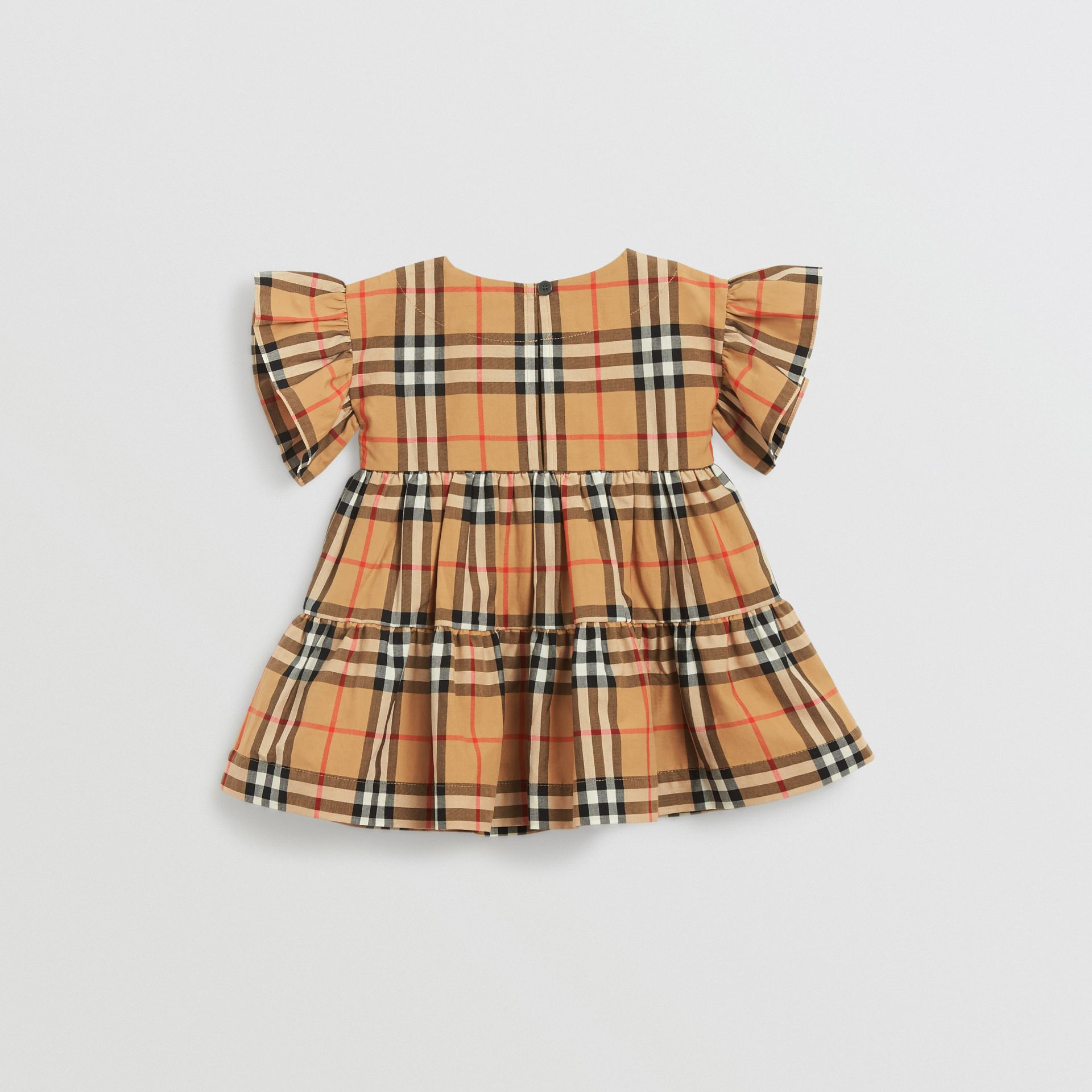 Ruffle Detail Vintage Check Dress with Bloomers in Antique Yellow - Children | Burberry - gallery image 2