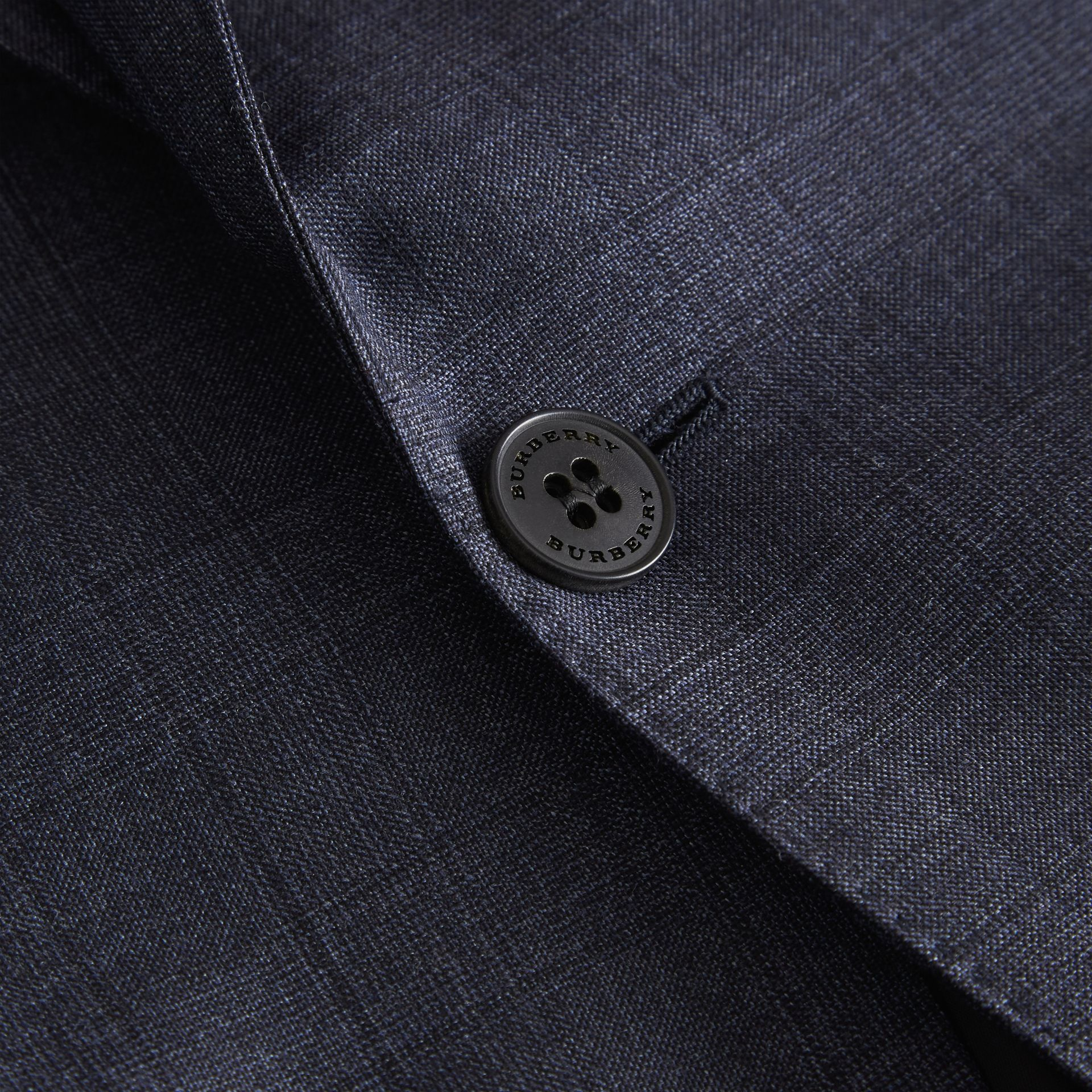 Classic Fit Check Wool Three-piece Suit in Steel Blue - Men | Burberry - gallery image 9
