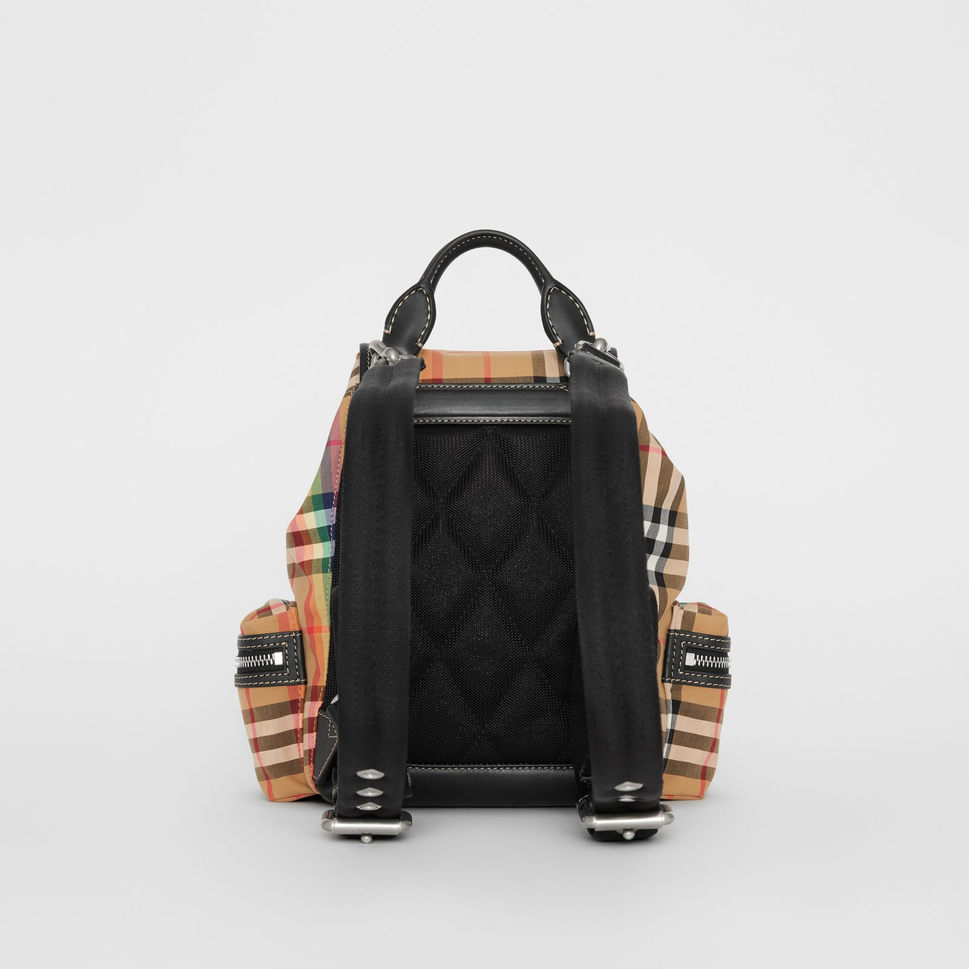 The Small Crossbody Rucksack in Rainbow Vintage Check in Antique Yellow - Women | Burberry United Kingdom - gallery image 5