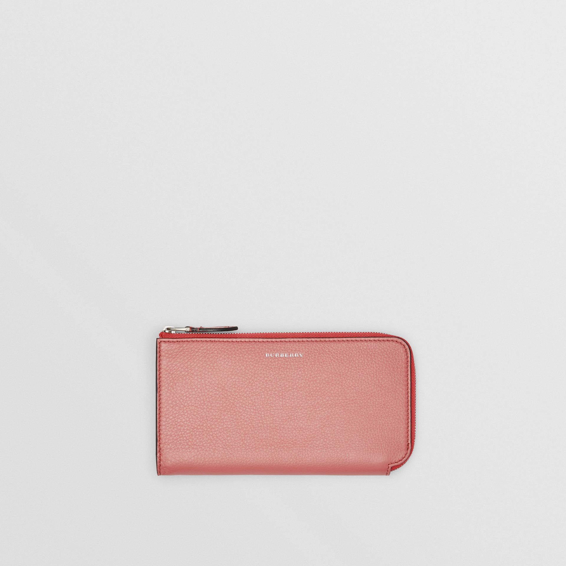 Two-tone Leather Ziparound Wallet and Coin Case in Dusty Rose - Women | Burberry United States - gallery image 0