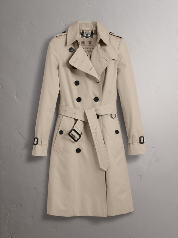 The Chelsea – Long Trench Coat in Stone - Women | Burberry - cell image 3