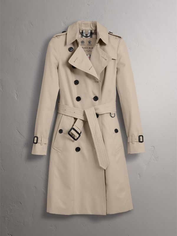 The Chelsea – Long Trench Coat in Stone - Women | Burberry United States - cell image 3