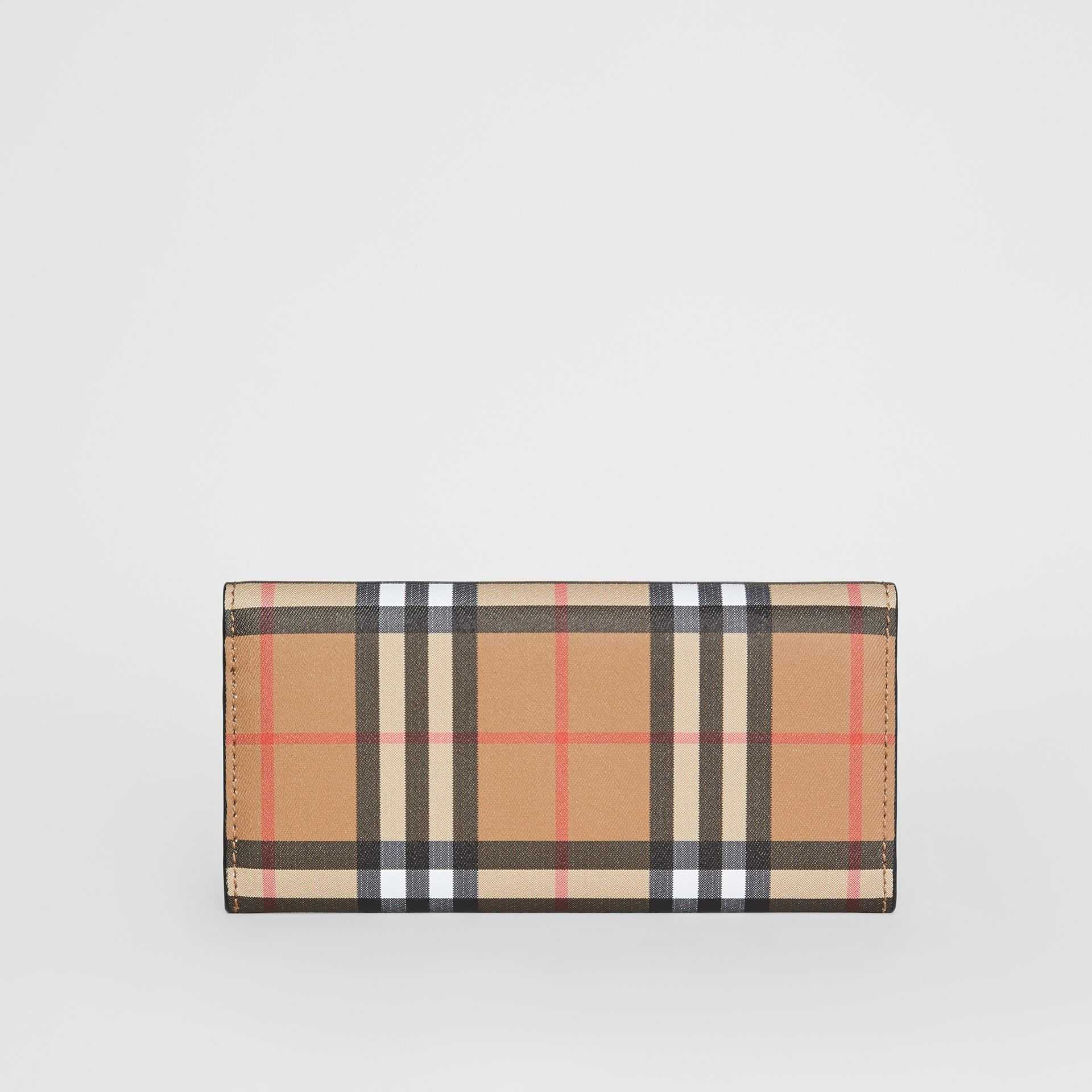Vintage Check and Leather Continental Wallet in Black - Women | Burberry Hong Kong S.A.R - gallery image 4
