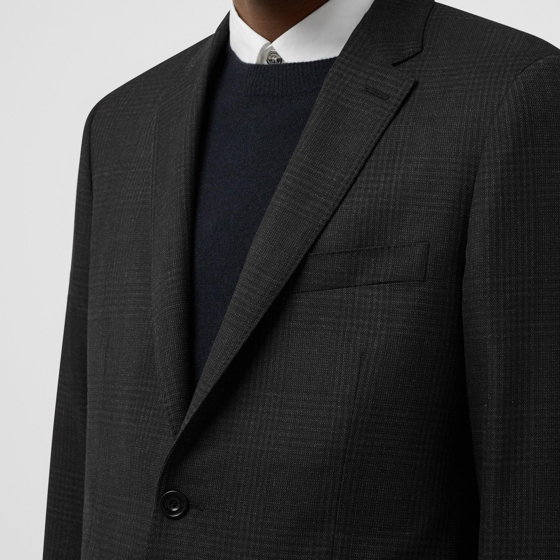 スリムフィット プリンス オブ ウェールズ チェック ウールスーツ (ダークグレー) - メンズ | バーバリー - ギャラリーイメージ 1