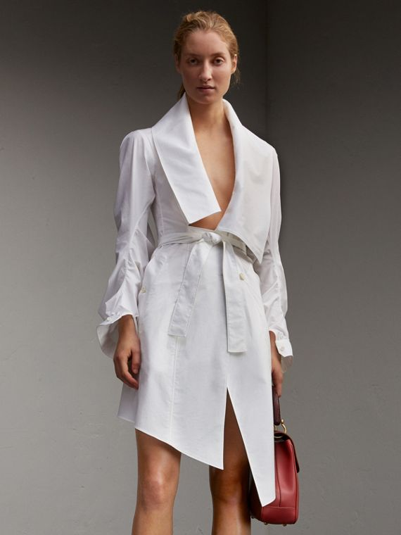 Stretch Cotton Sculptural Wrap Dress