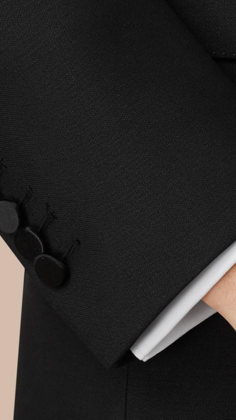 Noir Smoking de coupe étroite en laine et mohair - Image 2