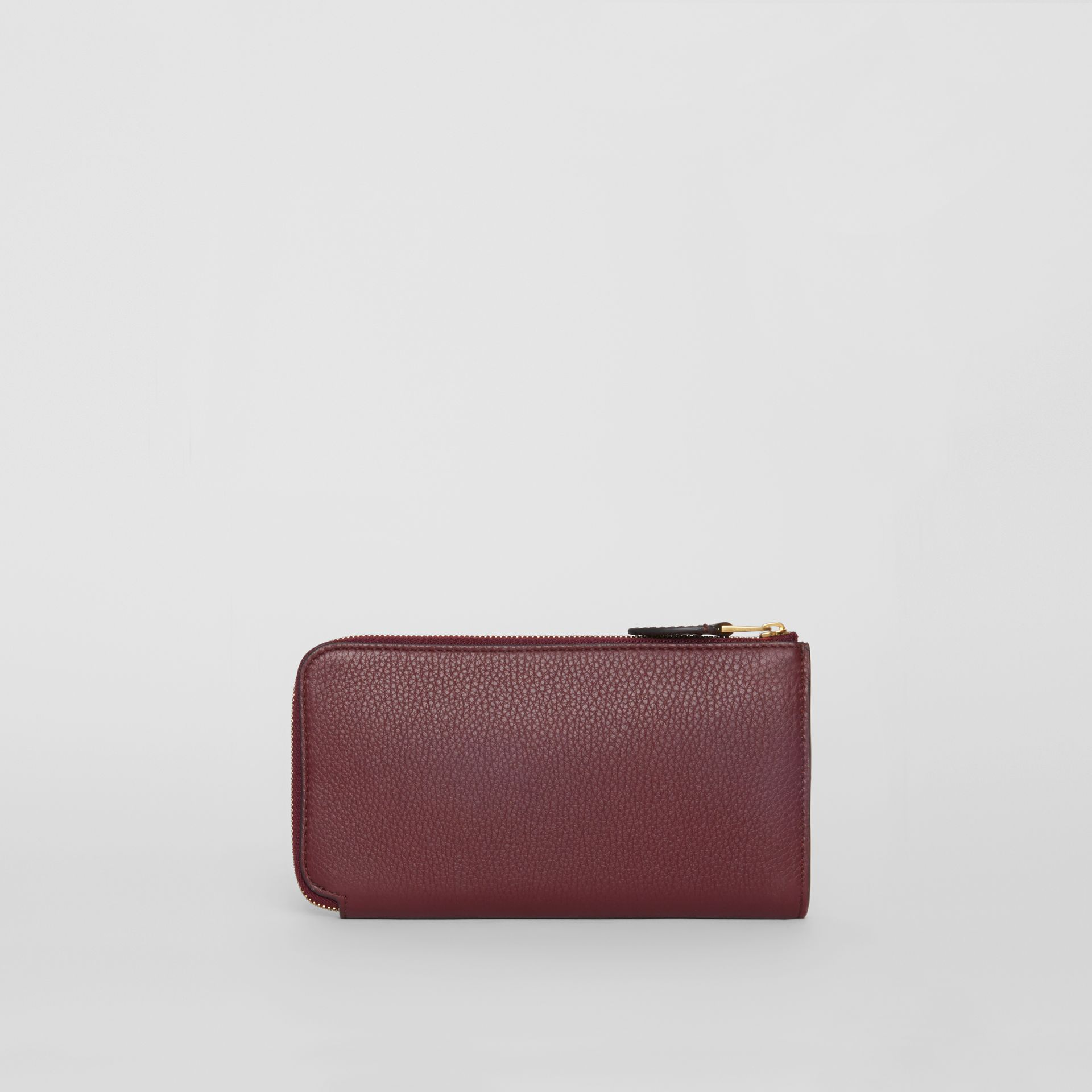 Two-tone Leather Ziparound Wallet and Coin Case in Deep Claret - Women | Burberry - gallery image 5