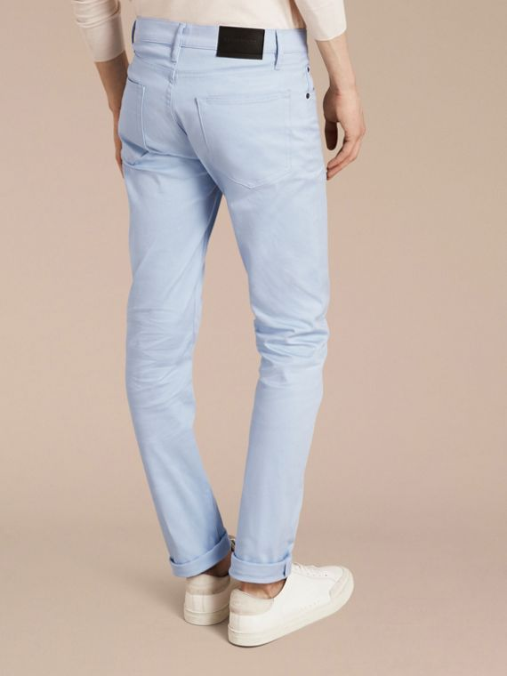 Light blue Slim Fit Japanese Stretch Denim Jeans Light Blue - cell image 2