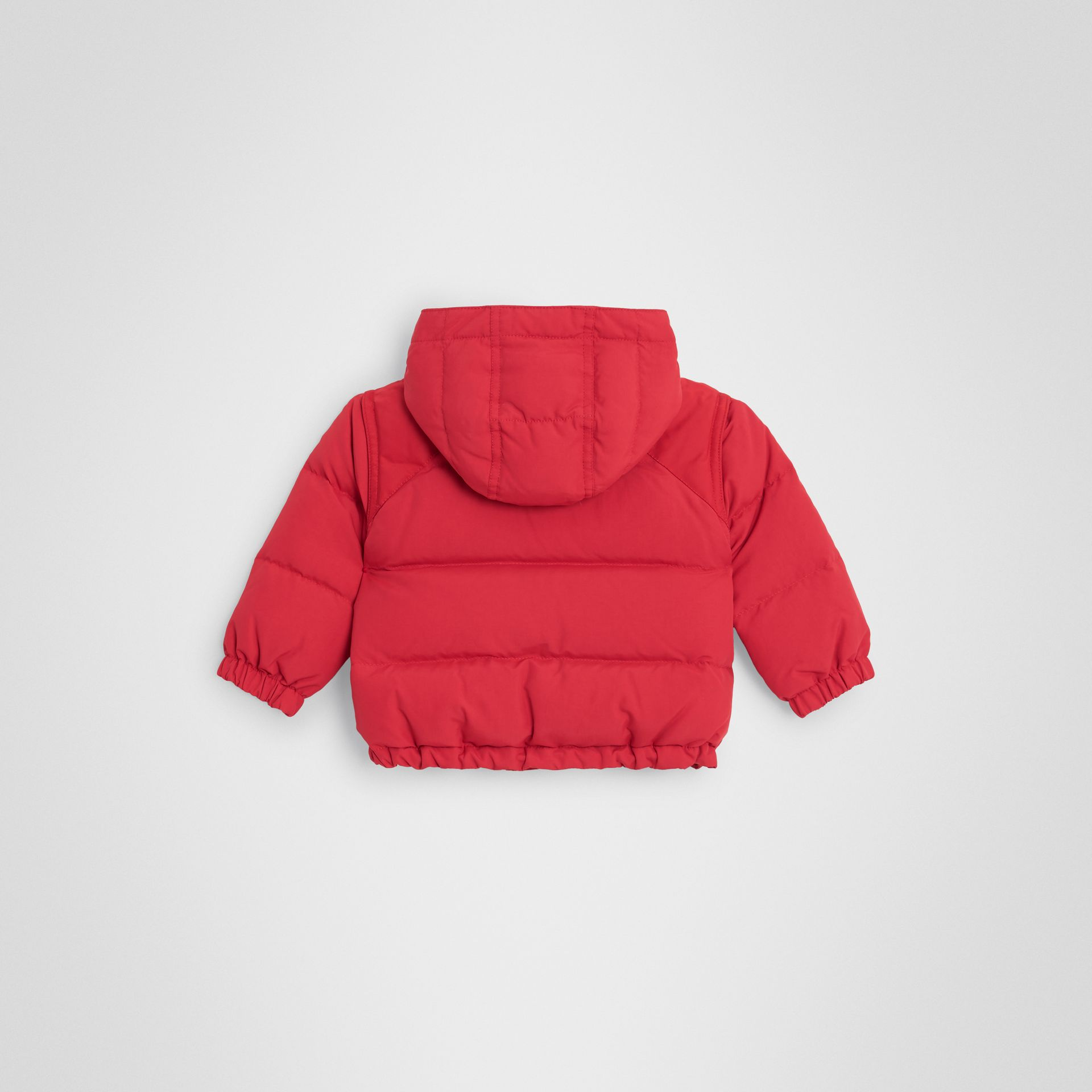 Down-filled Hooded Puffer Jacket in Bright Red - Children | Burberry United Kingdom - gallery image 3