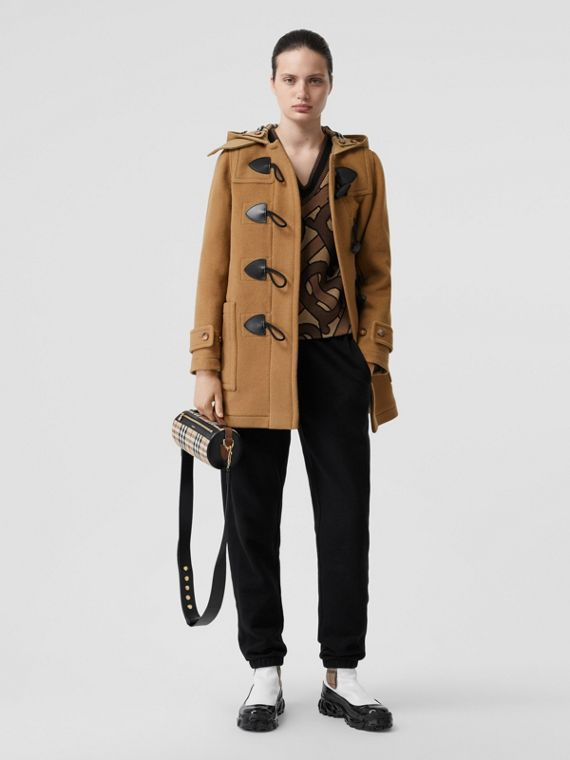 Wool Blend Duffle Coat in Mid Camel