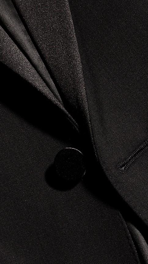 Black Satin Lapel Tuxedo Jacket - Image 8