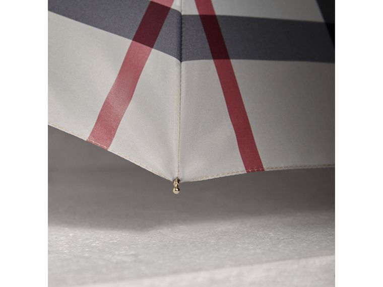 Check Folding Umbrella in Stone | Burberry - cell image 2