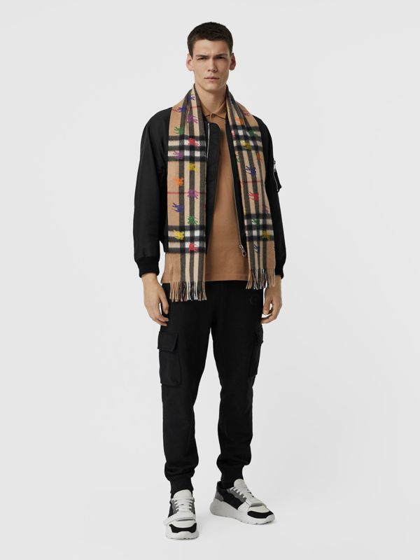 The Classic Check Cashmere Scarf in EKD Print in Camel | Burberry - cell image 3