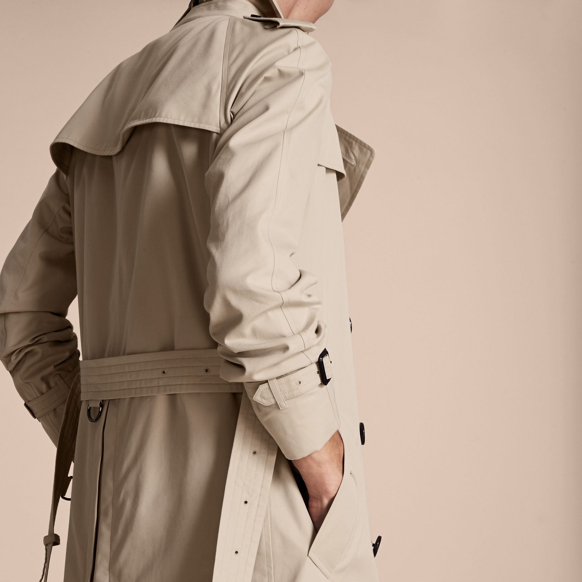 Stone The Wiltshire – Long Heritage Trench Coat Stone - gallery image 6